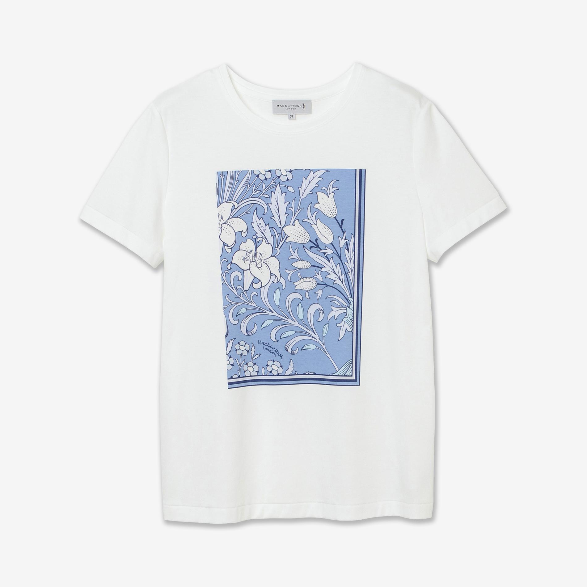 バイブリースカーフプリントTシャツ