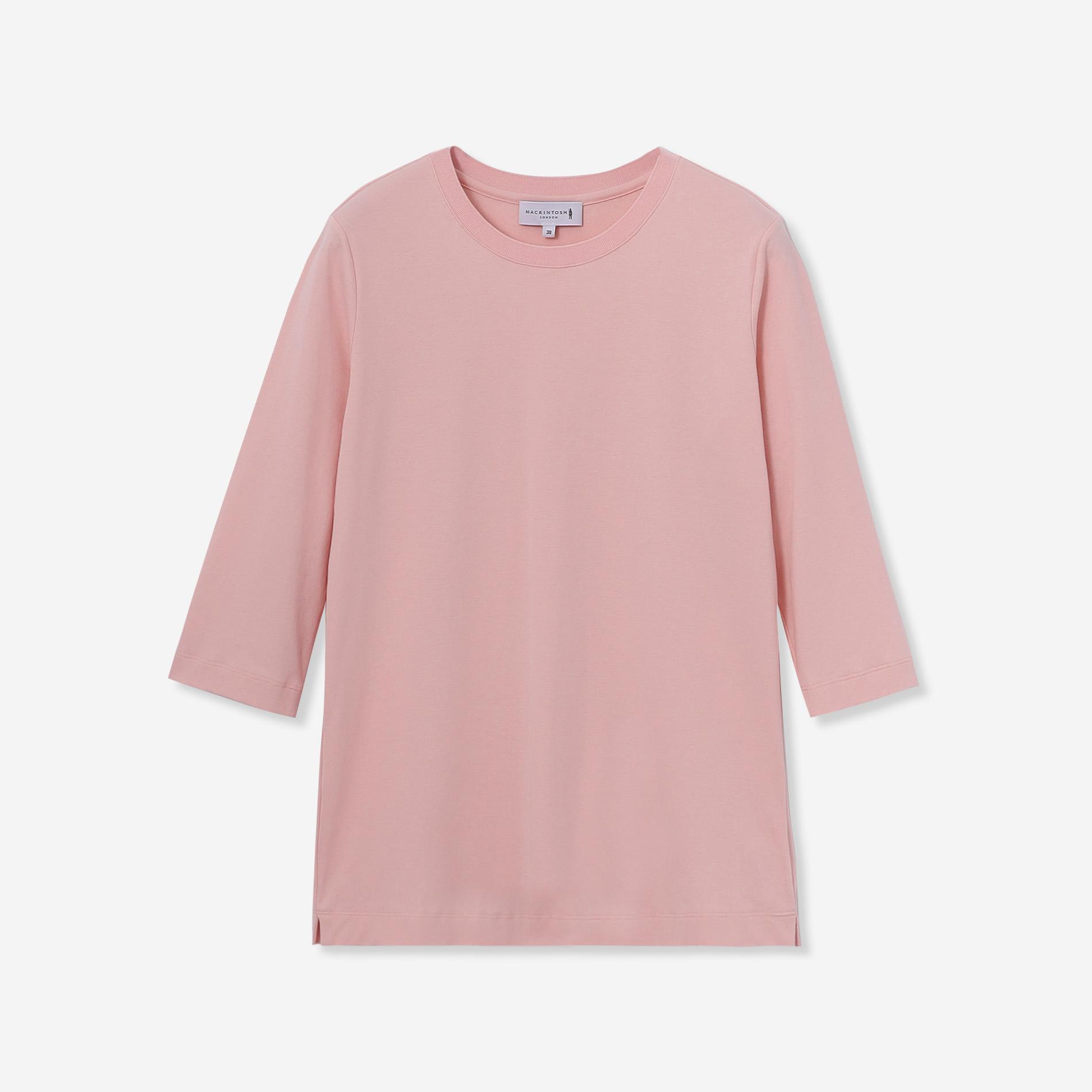 ◆◆【SUPER FINE LAB.】パウダーシュガーコットン五分袖Tシャツ