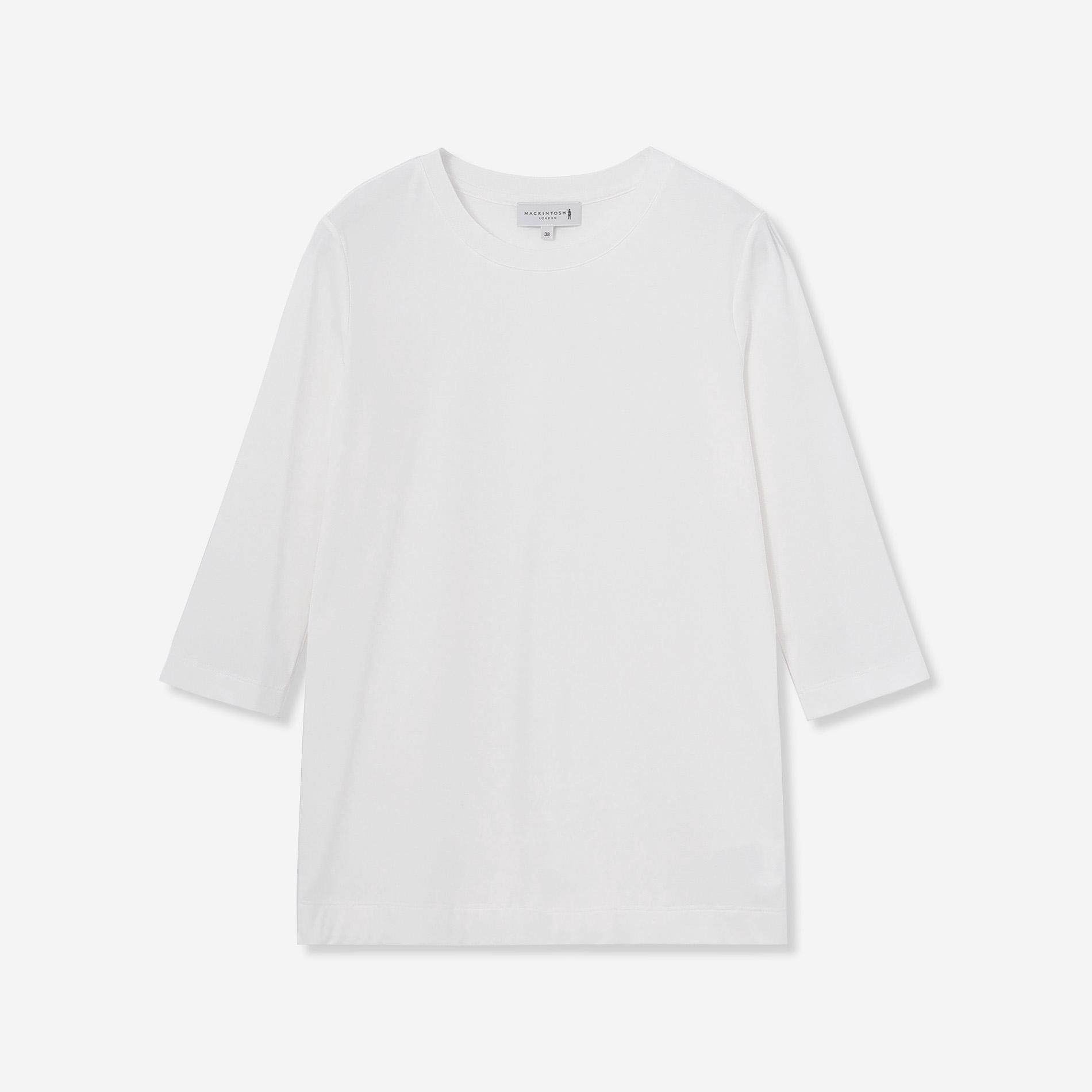 【SUPER FINE LAB.】パウダーシュガーコットン五分袖Tシャツ