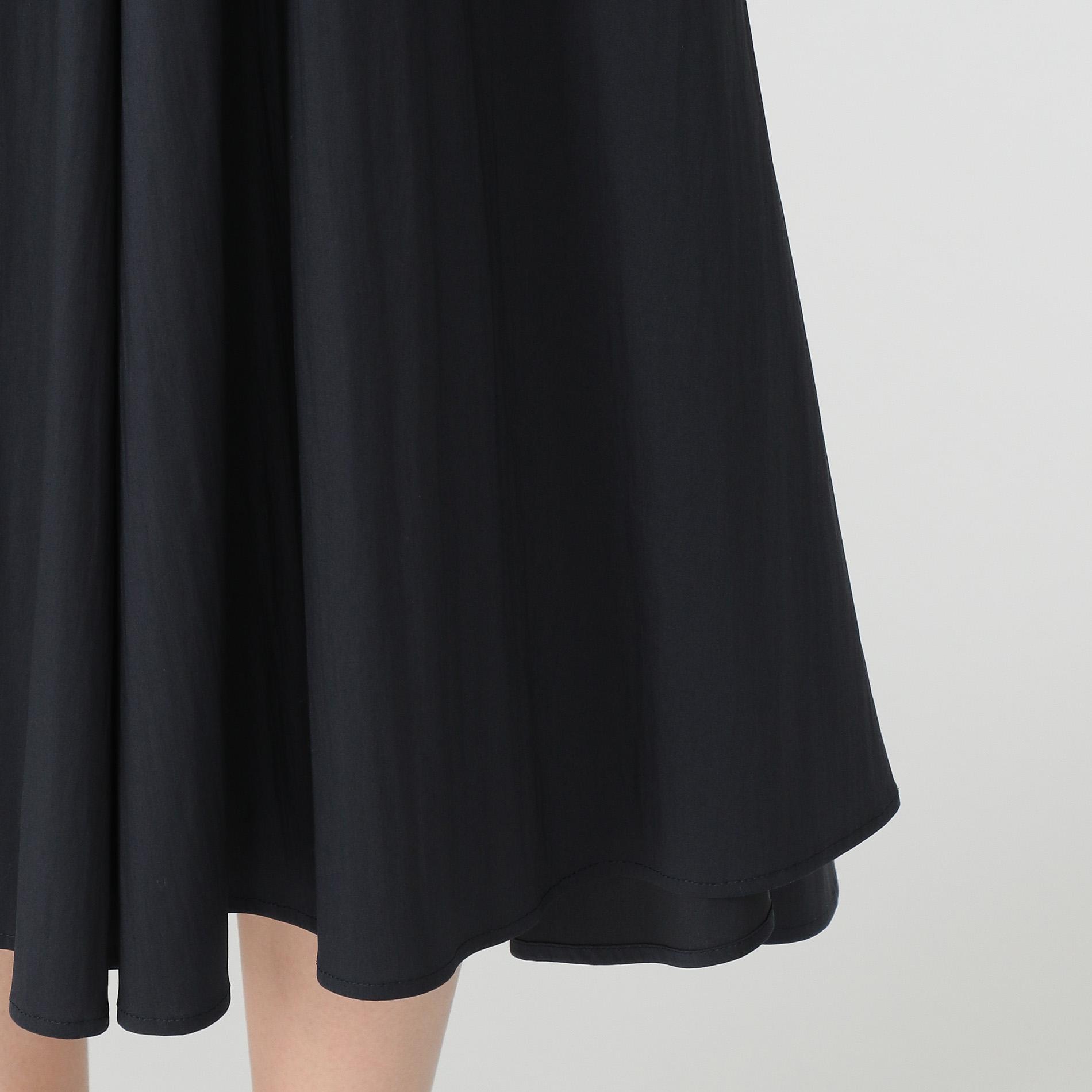 コットンナイロンストレッチツイルスカート