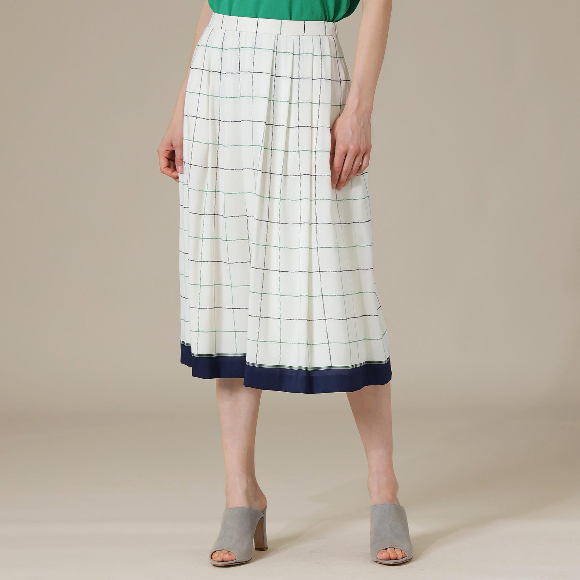 ◆◆タッタソールチェックプリントスカート