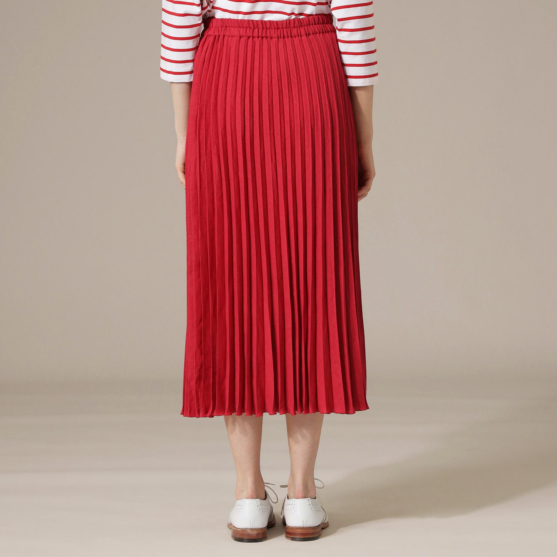 フレンチ麻プリーツスカート