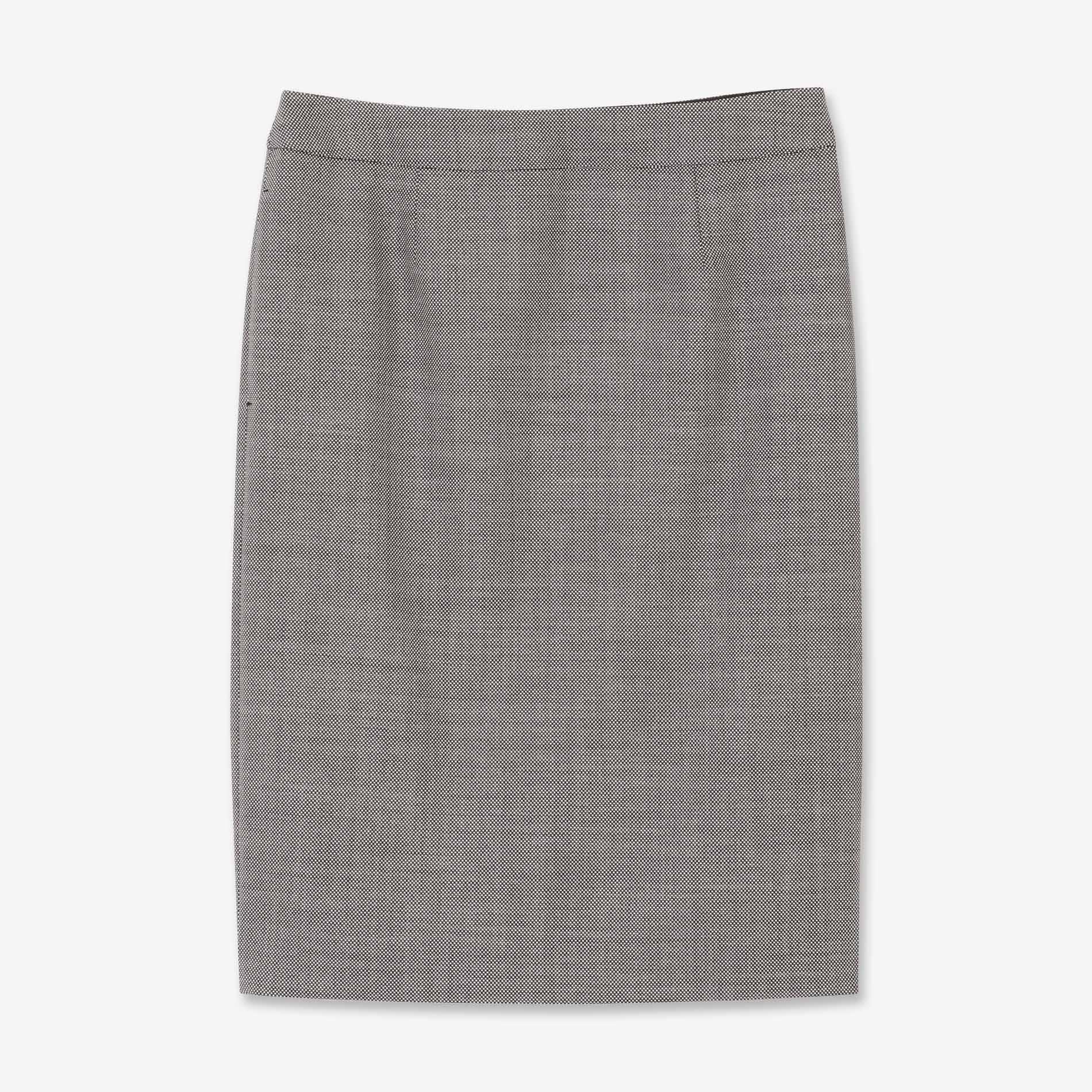 ウールシルクストレッチスカート