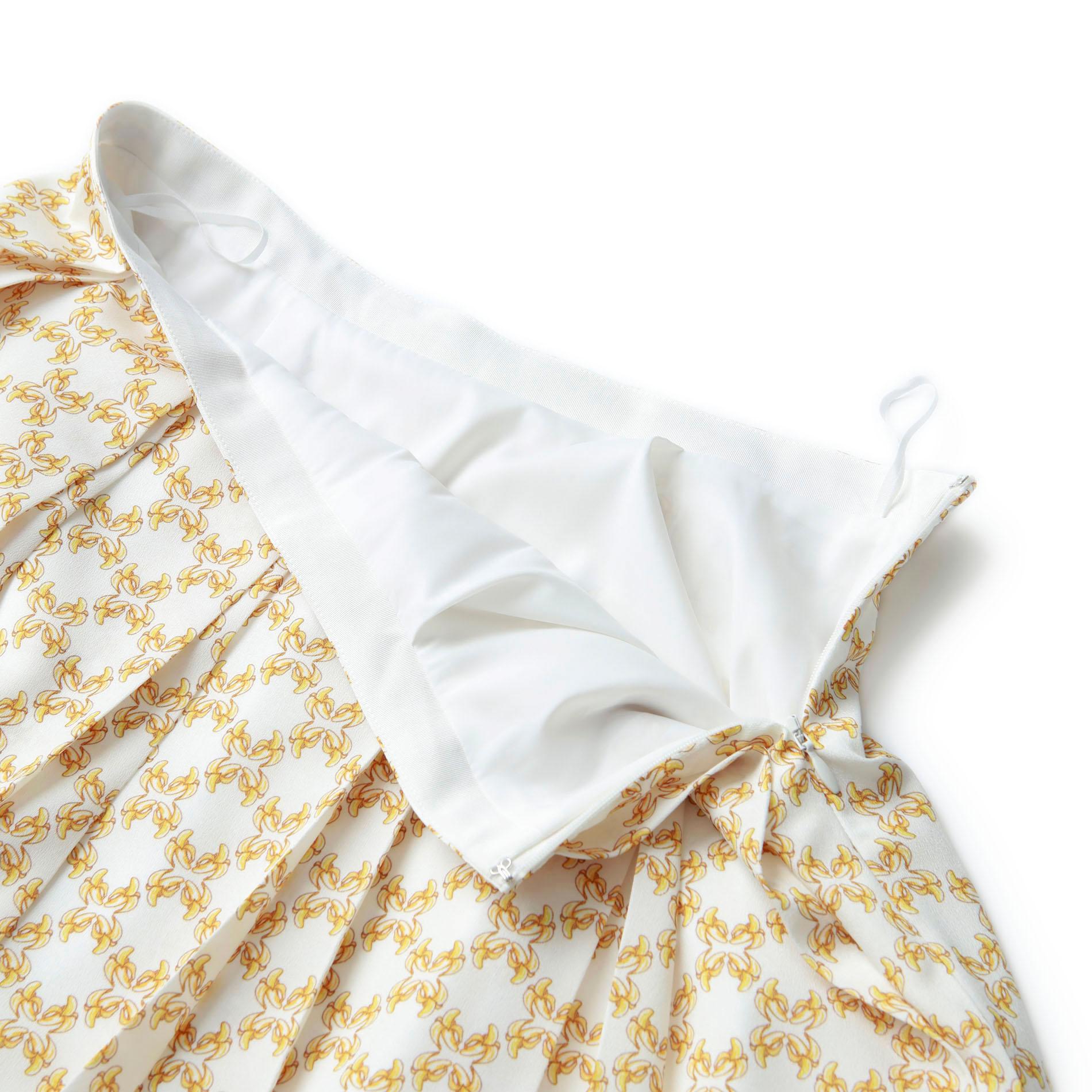 ジオメトリックフルーツプリントスカート