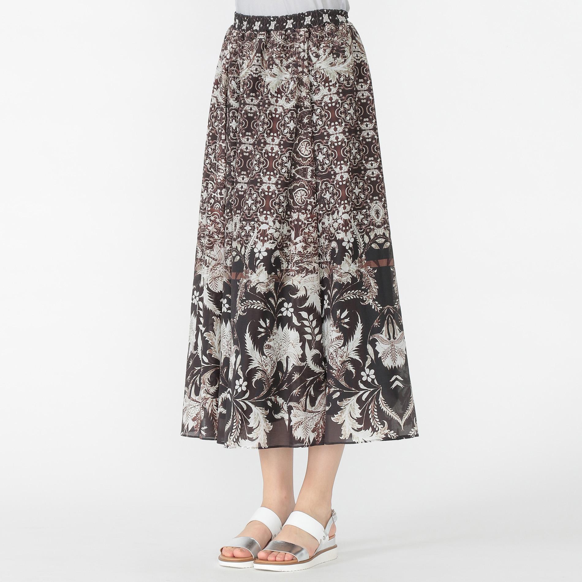 ジャコビアンプリントスカート