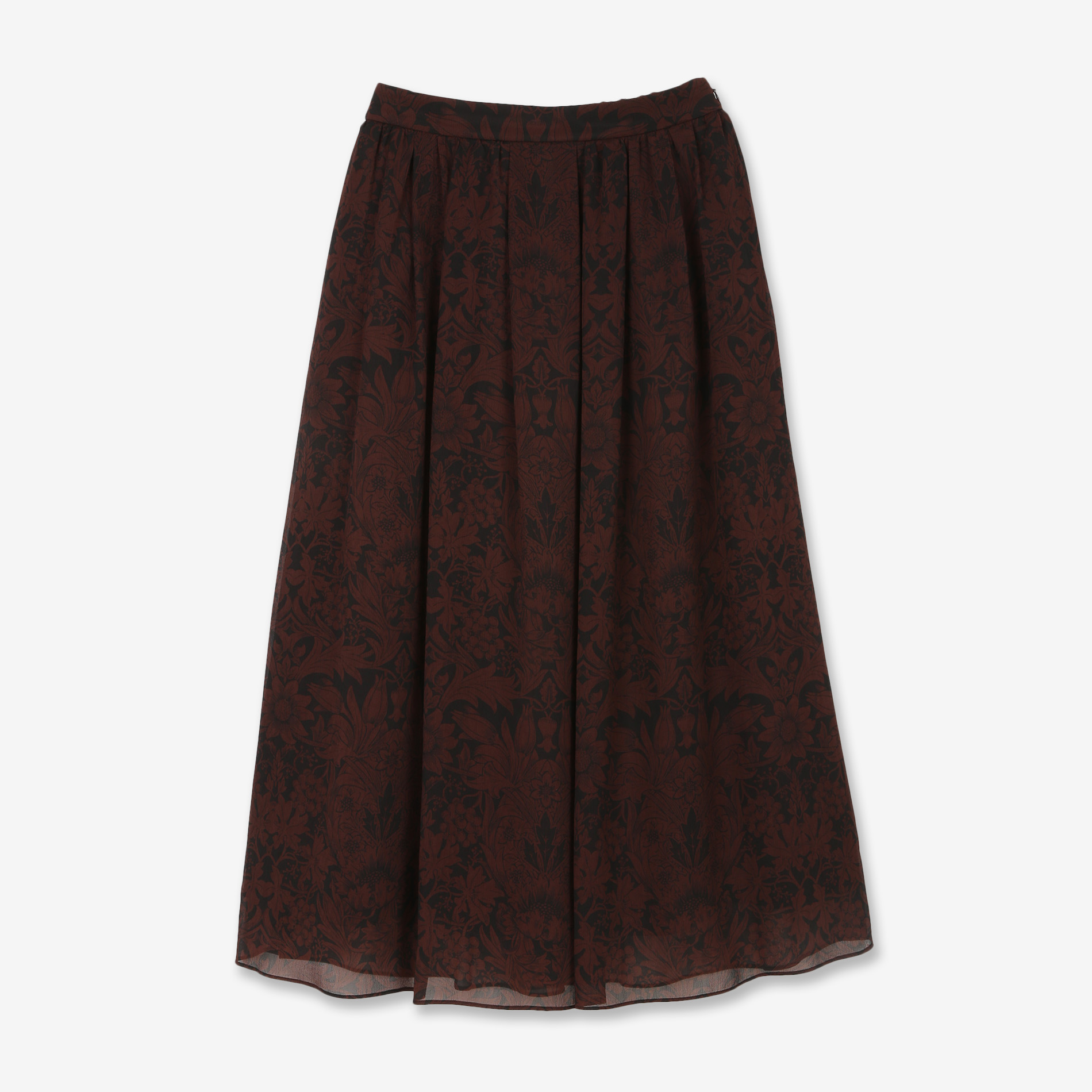 ヴィンテージフラワークレープスカート
