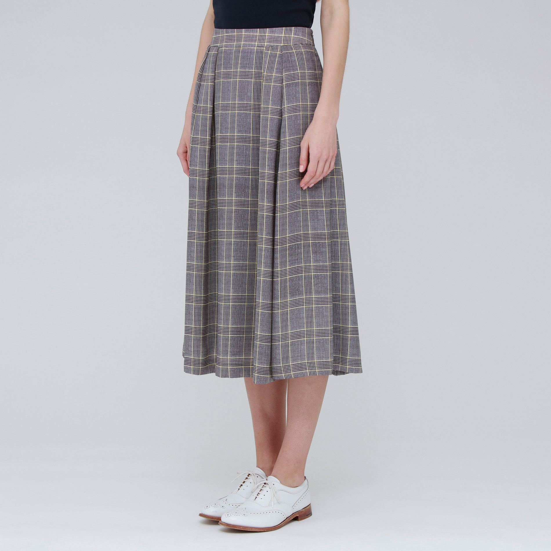 トラディショナルチェックプリントスカート