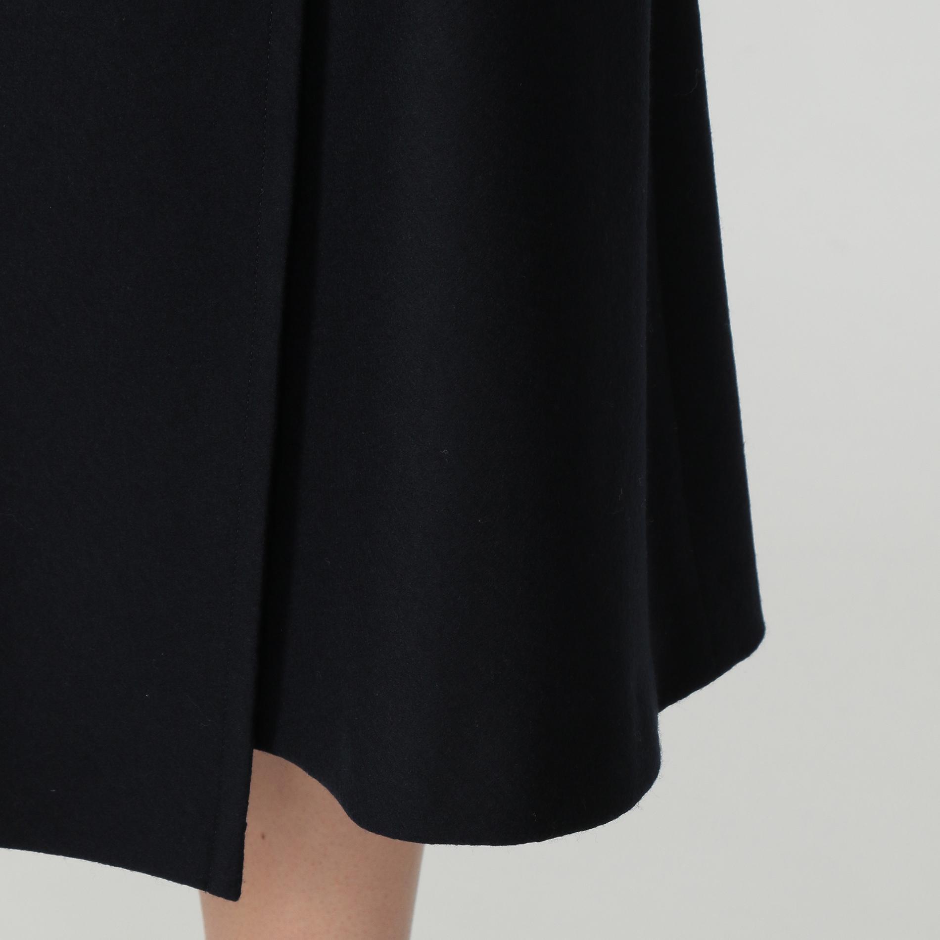 ウール圧縮スムーススカート