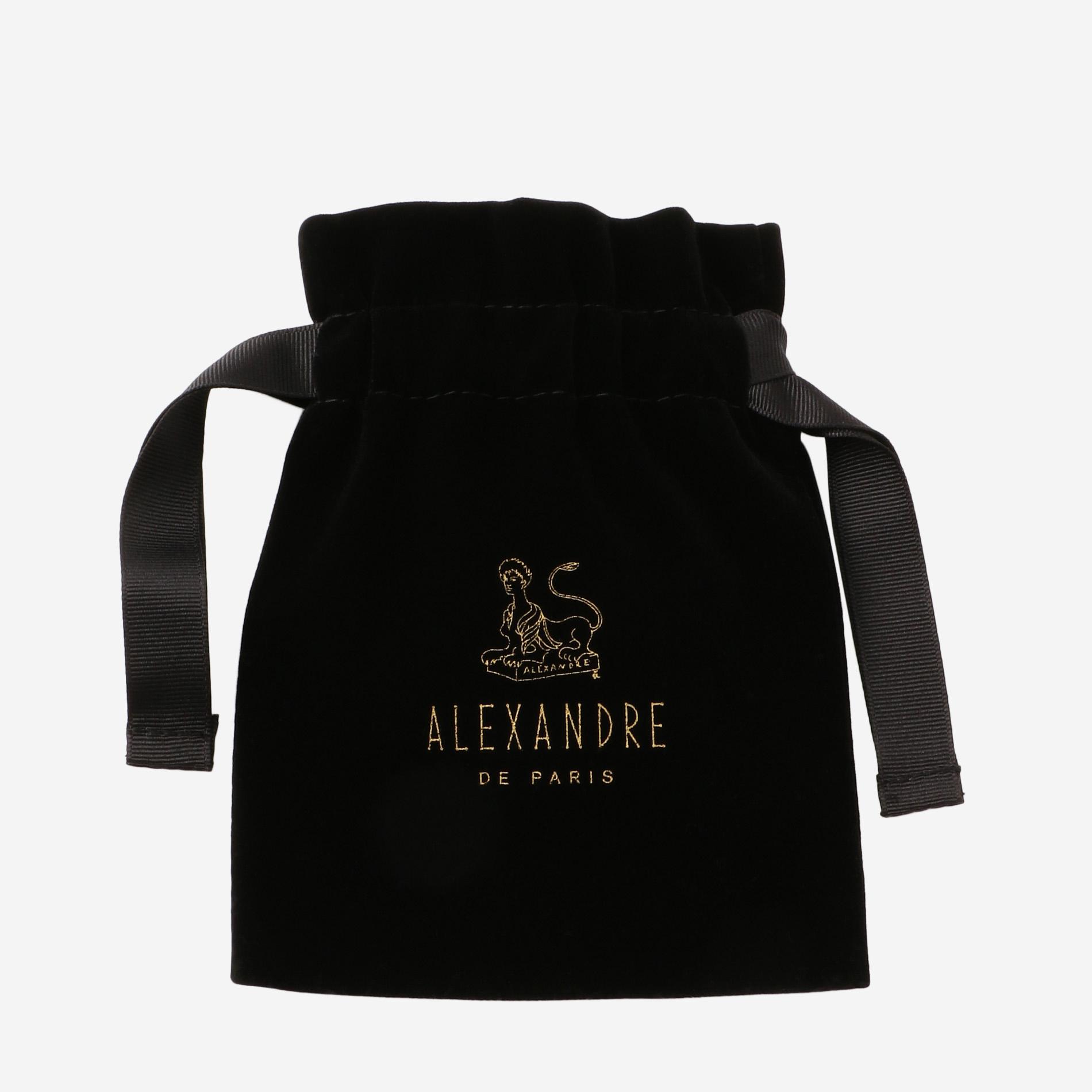 ◆◆【ALEXANDRE DE PARIS】リボンバレッタ(ブラウン)